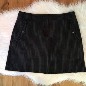 Izod Black Stripe Golf Tennis Skort Size 6